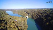 Photographie aérienne par drone du pont Carnot sur le Rhône