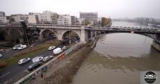 Photographie aérienne par drone du pont de Levallois Perret