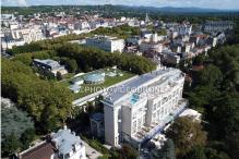 Photographie aérienne sur la ville de Vichy