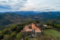 Photographie aérienne maison de village département Hérault