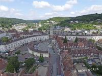 Photographie aerienne village en normandie