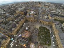 Photographie aerinne de centre ville