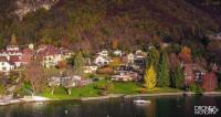 Photographie de chavoires en automne sur les bords du lac d annecy