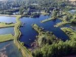 Photographie de drone etang en normandie