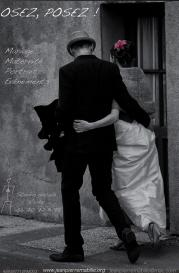 Photographie de mariage le marie et la mariée