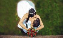 Photographie mariage en Île de France vue du ciel