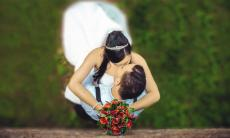 Photographie mariage en vue aérienne