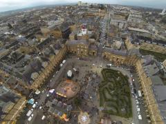 Photographie pour documentaire sur une ville photographié par un drone