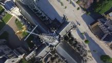 Photos aériennes de la cathédrale Notre-Dame vue du ciel