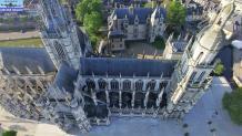 Photos aériennes de la cathédrale Notre Dame