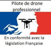 Pilote drone professionnel en conformité avec la législation française