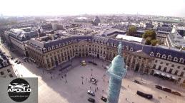 Place Vendôme a Paris 1er arrondissement en vue aérienne par drone