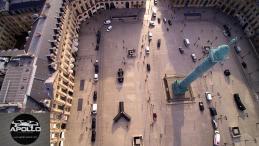 Place Vendôme en vue aérienne photographiée par un drone à Paris
