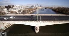Pont de Suresnes en vue aérienne proche paris