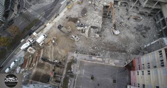 Prise de vue aérienne chantier Bagnolet Seine Saint Denis
