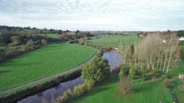 Prise de vue aérienne de paysage vue par un drone