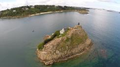 Prise de vue aérienne île Louet en Bretagne