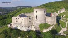 Prise de vue aérienne par drone château gaillard 10