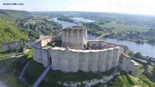 Prise de vue aérienne par drone château Gaillard