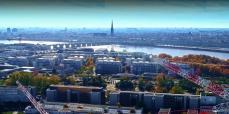 Prise de vue aérienne par drone de Bordeaux