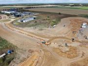 Prise de vue aérienne par drone de suivi de chantier de terrassement dans l'Eure