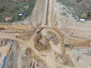 Prise de vue aérienne par drone de suivi de chantier de voirie dans le 27 Eure