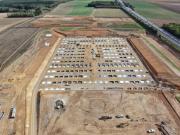 Prise de vue aérienne par drone de suivi de chantier Eure Normandie Douains