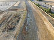 Prise de vue aérienne par drone de suivi de chantier