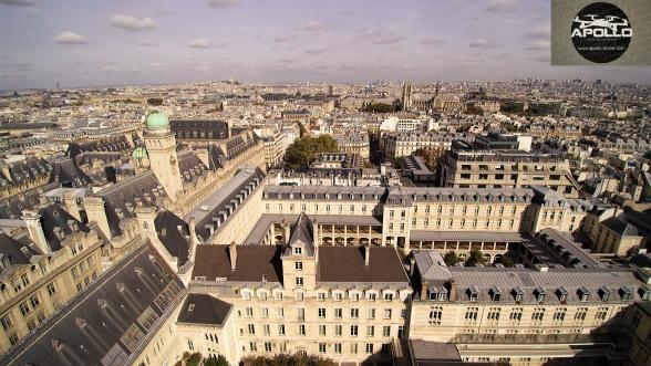 Prise de vue aerienne par drone du 5eme arrondissement paris