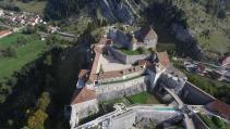Photo en prise de vue aérienne par drone fort de Joux