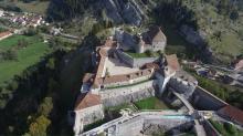 Photo en prise de vue aérienne par drone d'un monument