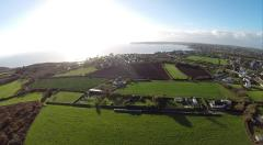 Prise de vue aérienne paysage breton en Bretagne