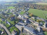 Prise de vue aerienne village en Normandie