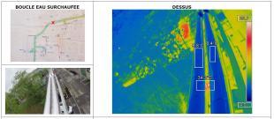 Rapport thermographie aérienne par drone réseau eau chaude
