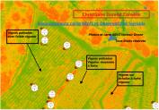 Recoupement carte NDVI et observation terrains agricole ou viticole