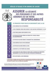 Regles d usage et de securité pour faire voler un drone