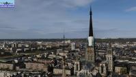 Rouen et sa cathedrale vue du ciel par un drone