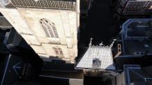 Rouen le gros horloge vu du ciel par un drone