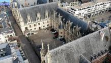 Rouen palais de justice vu du ciel par pilote de drone