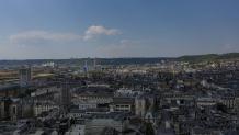 Rouen vue du ciel par drone
