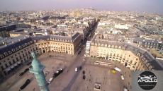 Sacre cœur a paris photographie de la place Vendôme par un drone