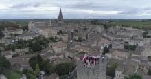 Saint Emilion en vue aérienne par drone