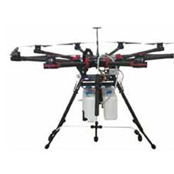 Spray autonome de drone volt est un octocopter agricole