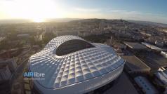 Stade de foot de Marseille en vue aérienne