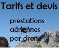 Tarifs et devis pour prestation aerienne par drone