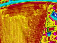 Thermographie aerienne terrain agricole