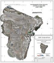 Topographie par drone dans carrière orthophoto pour courbes de niveau
