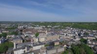 Un drone photographie le centre ville d'Evreux