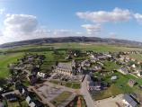 Village photographie d un drone