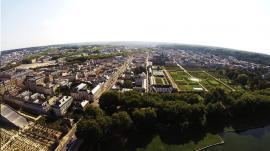 Ville en prise de vue aerienne de drone